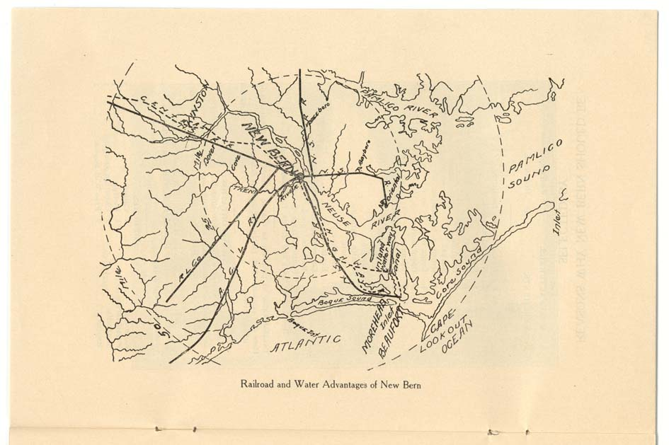 """Railroad and Water Advantages of New Bern."""